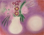 Flowers Brighten any Dull Day - from a chalk drawing by Rosemary Phillips