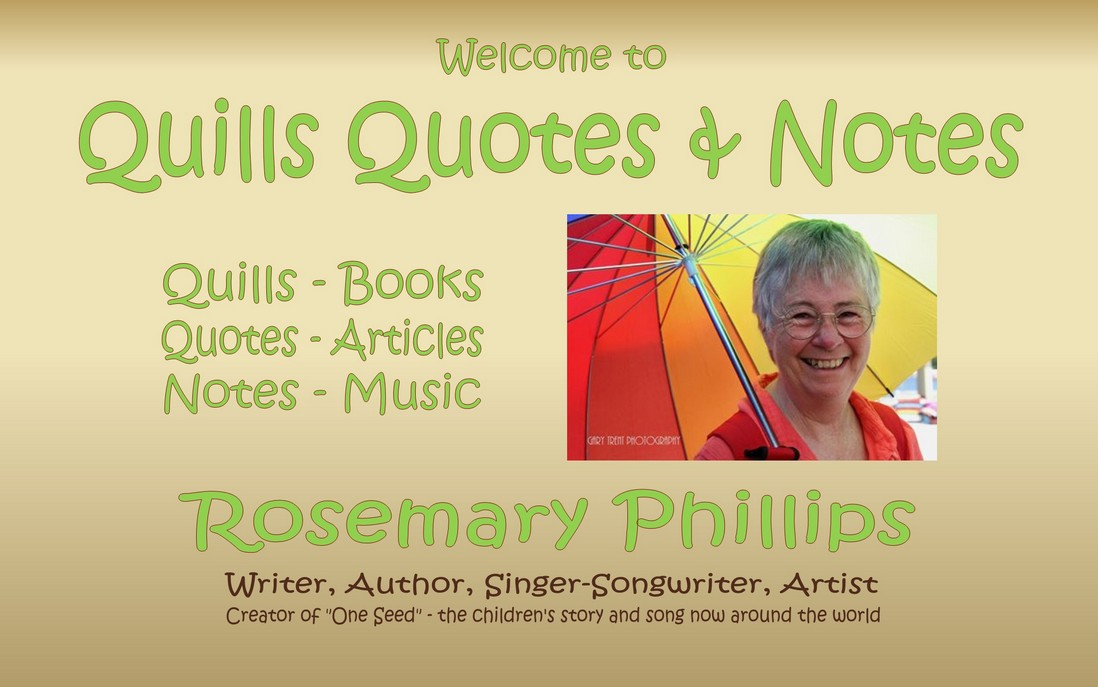Rosemary Phillips - writer, singer-songwriter, performer, author