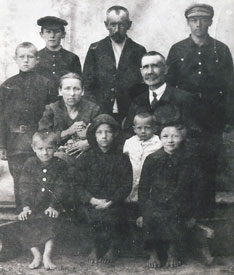 Katherine Berg's family just before leaving Russia for Canada