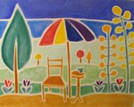 Summer Sun, Lots of Fun and Relaxation - from a chalk drawing by Rosemary Phillips